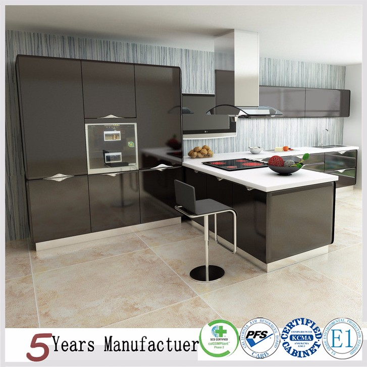 Modern Prefab High Gloss Kitchen Cabinets
