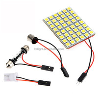 Lampadine interni verde 48 SMD 5050 LED Festoon Light Panel Interior Bulb