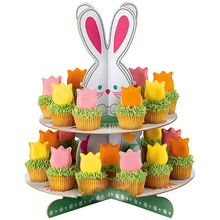 Hot selling Easter day paper cake stand holders / rabit decorative /paper cupcake