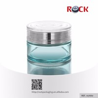 CE / ISO 60ml cosmetic container glass cream jar aluminium jar plastic cosmetic jar