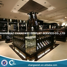 glass display case parts,tie display case for store