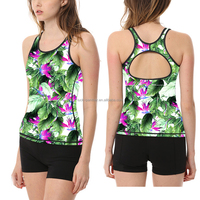 wholesale flower colorful compression fitness sexy women singlet