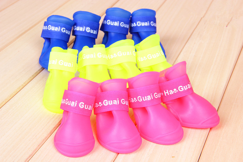 Redhill Candy Color Durable Pet Cat Puppy Dog Waterproof Boots Rain Shoes