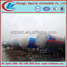 40.5cbm light lpg trailer,2axles mini lpg semi trailer,propane tank trailer