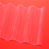 Sun Embossed Sheeets Polycarbonate Plastic PC Corrugated Transparent Roofing Sheet