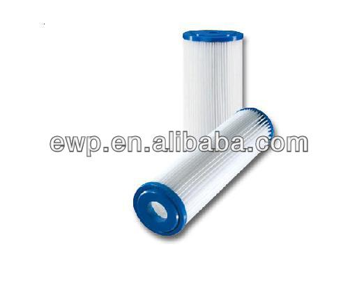 Reusable polyester pleated filter cartridge for swimming pool
