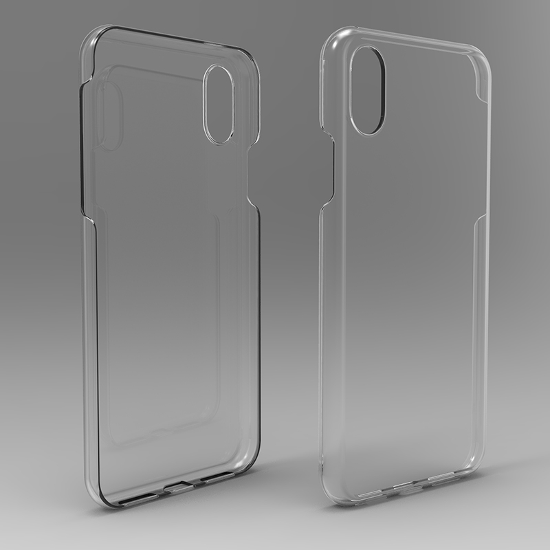 Full Protect hard PC back Phone Cover for iPhone X Case clear
