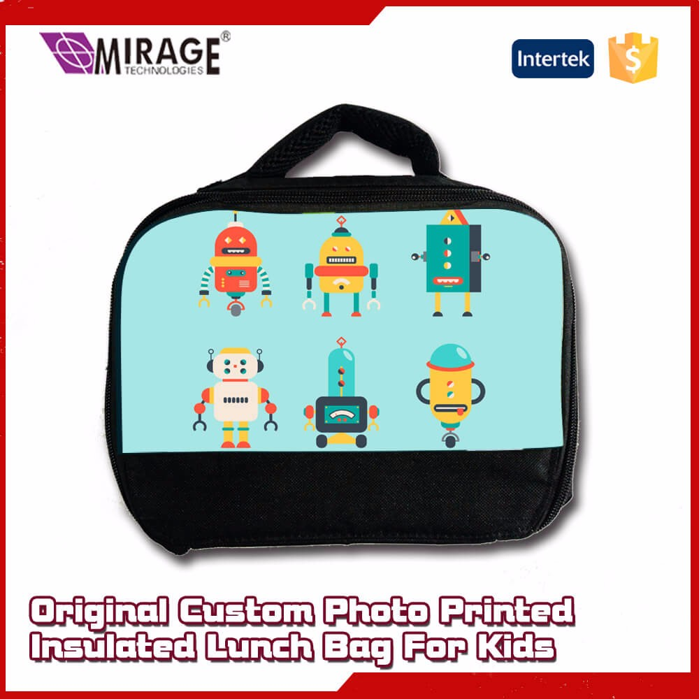 Original Custom Photo Printed Insulated Lunch Bag For Kids