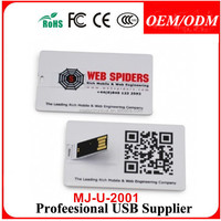 50pcs/lot Marketing Gift Business Card USB , usb flash drive with my logo