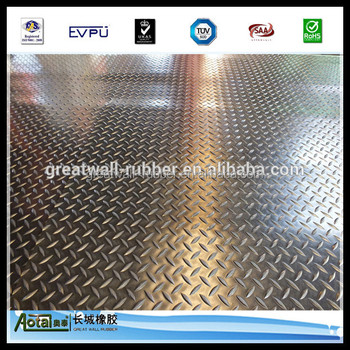 Great Wall 3mm thickness Anti-slip flooring Willow rubber sheet for gyms