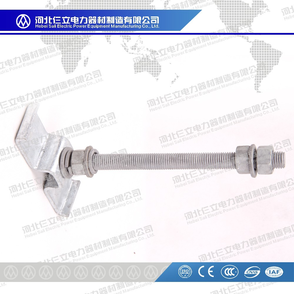 Hot-Dip Galvanized Steel Substaion Fittings Spacer For Rectangular Bar MJG