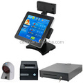 2017 all In one touch screen metal POS Terminal with magnetic card reader