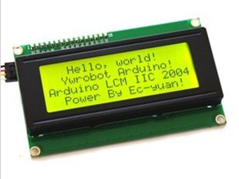 Yellow Backlight IIC/I2C/TWI Serial interface Board Module+2004 LCM 20x4 LCD Display module