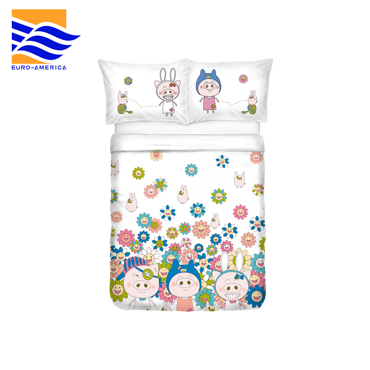 Top Quality Custom Printed Bedding Set Bed Sheets For Teens