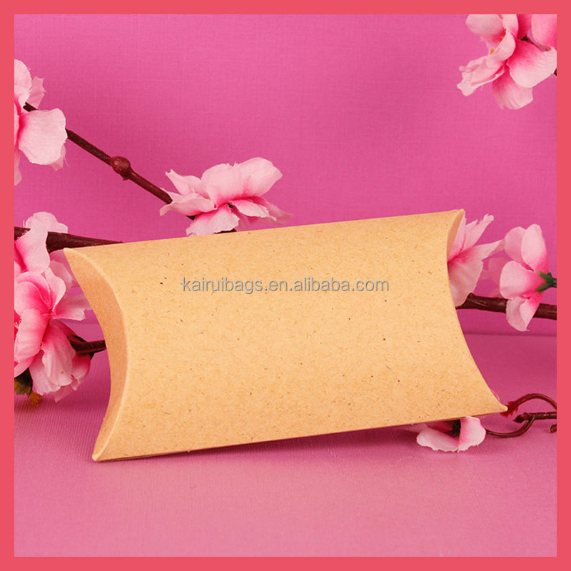 Brown Kraft Paper Pillow Box Factory & Foldable Brown Kraft Paper Pillow Box