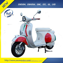 Two-color 3000W scooter electric vespa scooter with EEC approvel