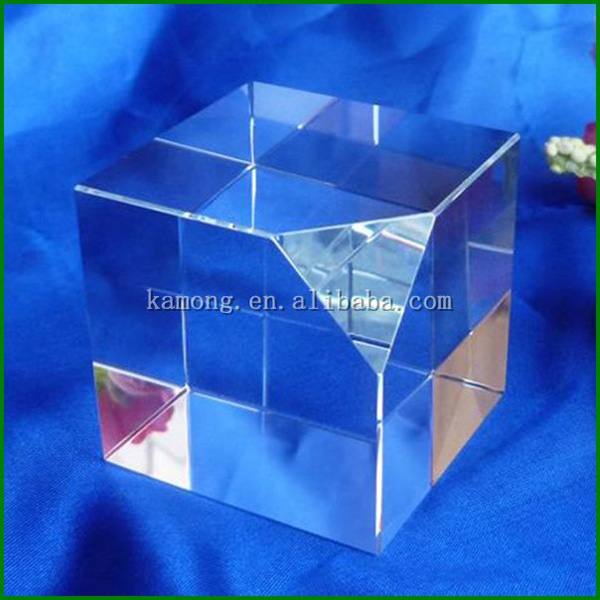 Factory Supply corner Cutting 3D Laser Crystal Glass Blank Cube for Engraving