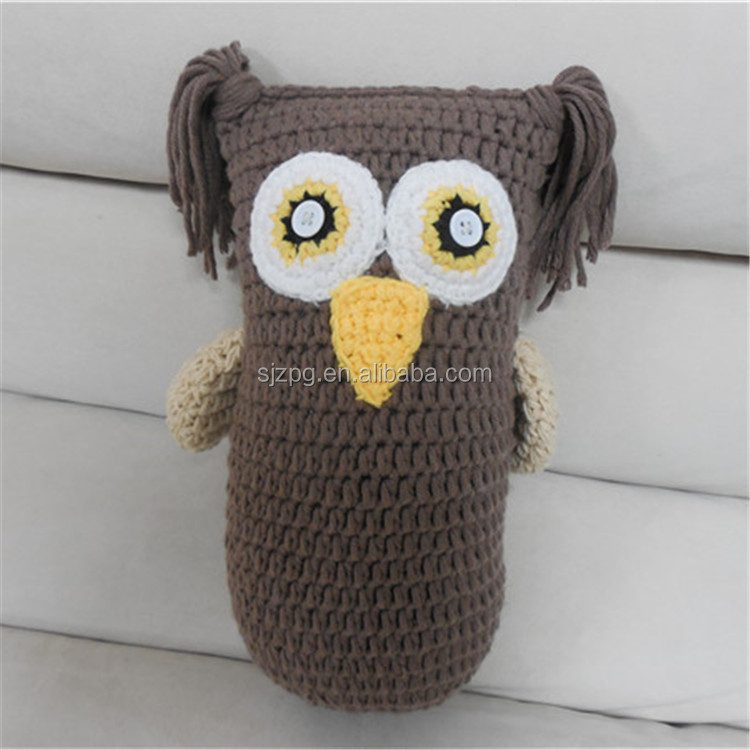 factory Handmade little crochet owl toy for baby and children