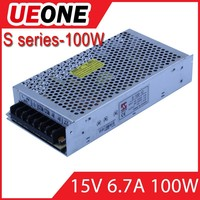 wholesale CE approved 15v 7a switching power supply 15v 100w S series LED power supply