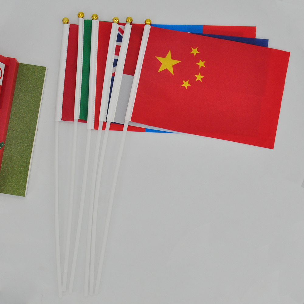 mini custom plastic paper hand plastic stick flag