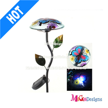 Solar Patio Lights New Product Butterfly Metal Solar Garden Stake With LED Light - MG1100210