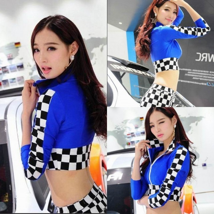 MOON BUNNY Sey racing girl interest models cheerleading under uniform stage costumes clothing Wholesale MOQ 1set