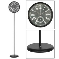 "12"" home decorative metal weather station floor standing clock/bladeless fan"