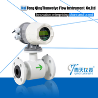 Sludge waste water magnetic flow meter