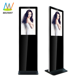 Manufacture 32inch touchscreen stand digital signage lcd advertising multi touch screens steel ad kiosk
