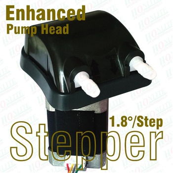 24Vdc, 500ml/min 1.8d/step Stepping Peristaltic Pump with Enhanced Nylon pump head and FDA approved PharMed BPT Peri-tube