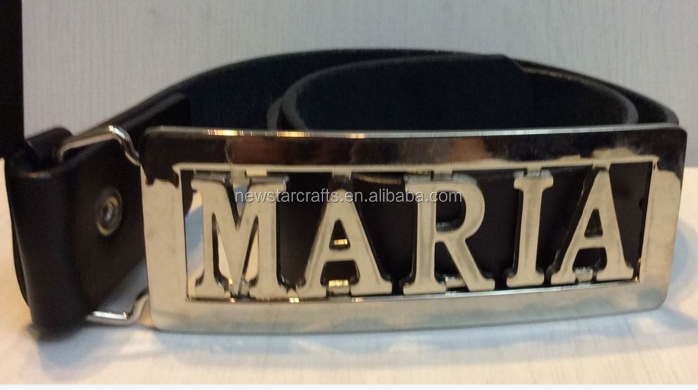 Cheap personalized name plate belt buckle