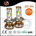 High Quality A2series Ip68 60W 6000lm COB LED Headlight Car Lamps high canbus non-polarity