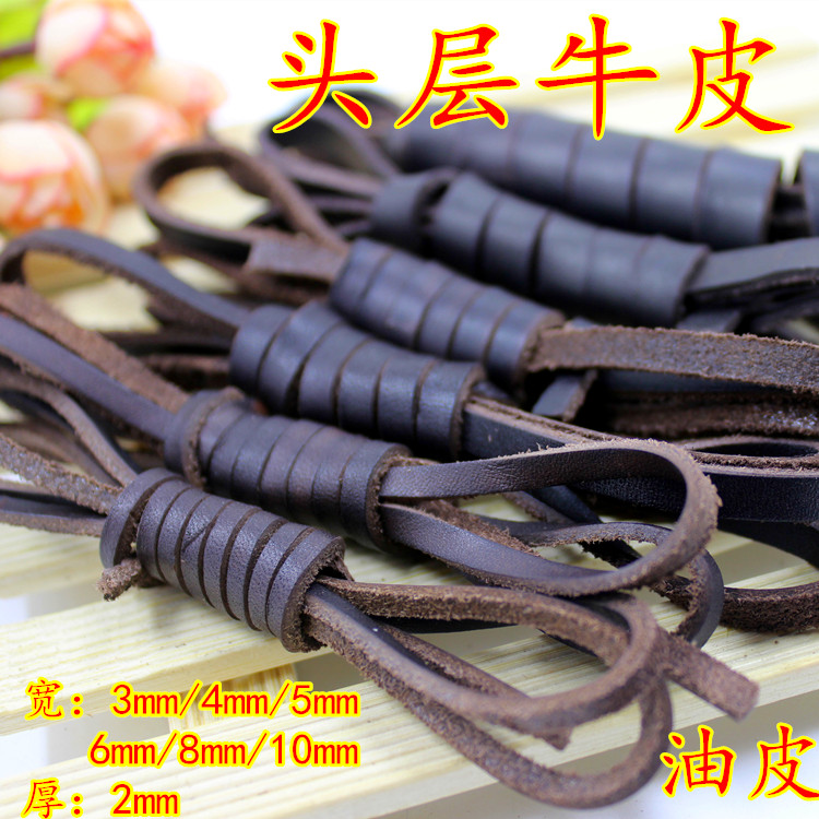 100% Handmade Band Real Vintage Flat Leather Cord - 3,4,5,6,8,10mm String Lace Thong Jewellery