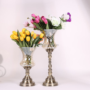 Factory supply simple design high end flower vase with many colors