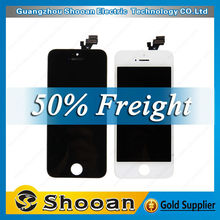 Wholesale - front assembly lcd display + touch screen digitizer for iPhone 5 5G Black White color