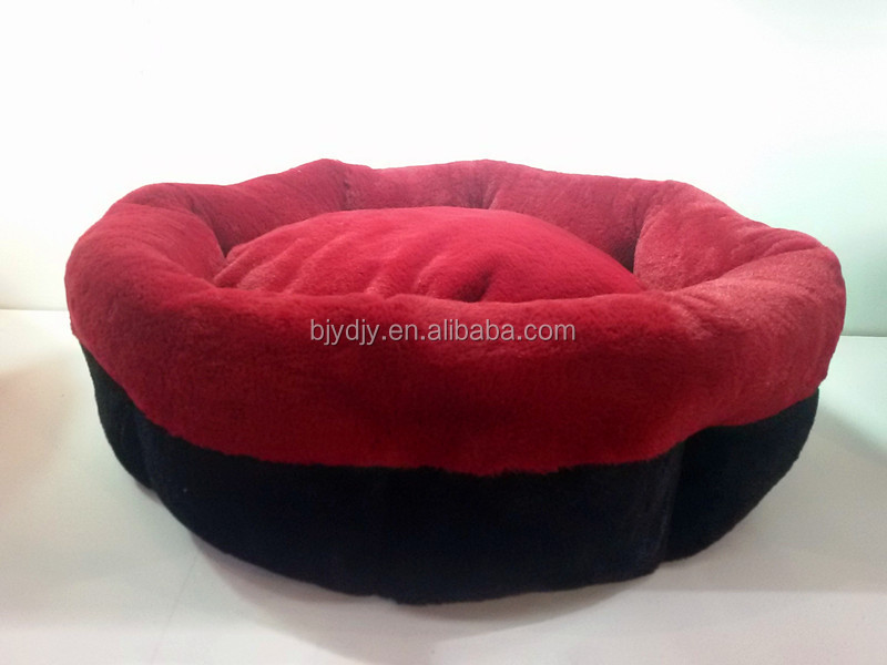 Circle shape soft &warm long plush dog bed /pet shop products /cat house
