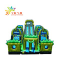 Free Log printing inflatable slide obstacle course for commercial use
