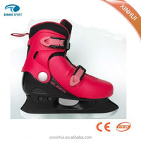 2015 New style ,hot sale and upscale ice skating shoes red color ice hockey skate shoes