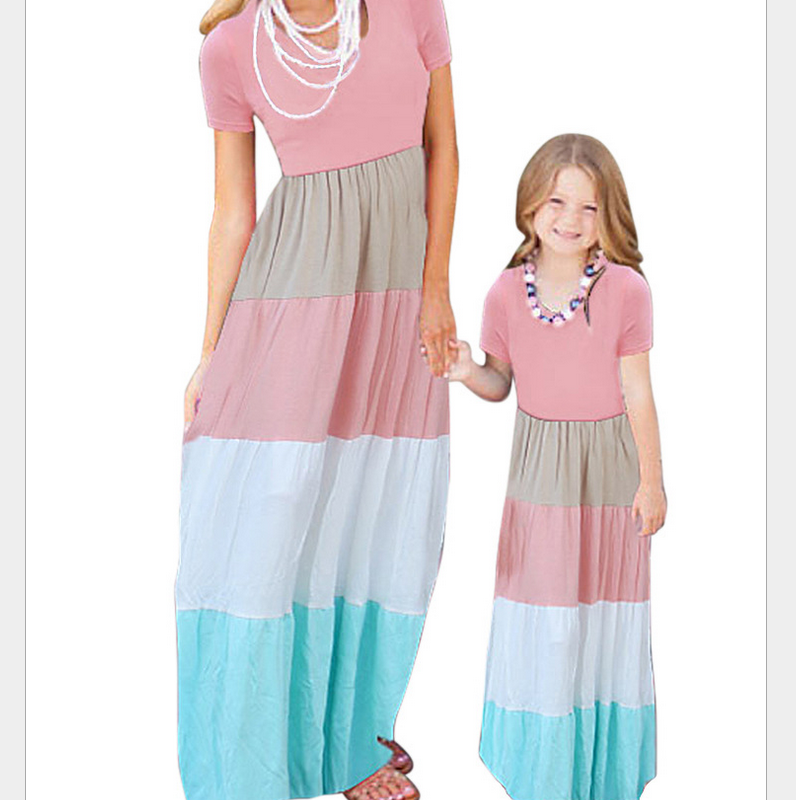 PJ0426A Hot cake mother and daughter mother daughter matching dress
