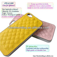 Lambskin leather cell phone cover case for Iphone5