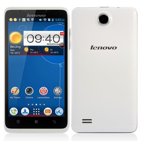 Lenovo A656 MTK6589 Quad Core 4GB 5.0 inch IPS Screen 5.0MP Camera Android 4.2 Mobile Phone White