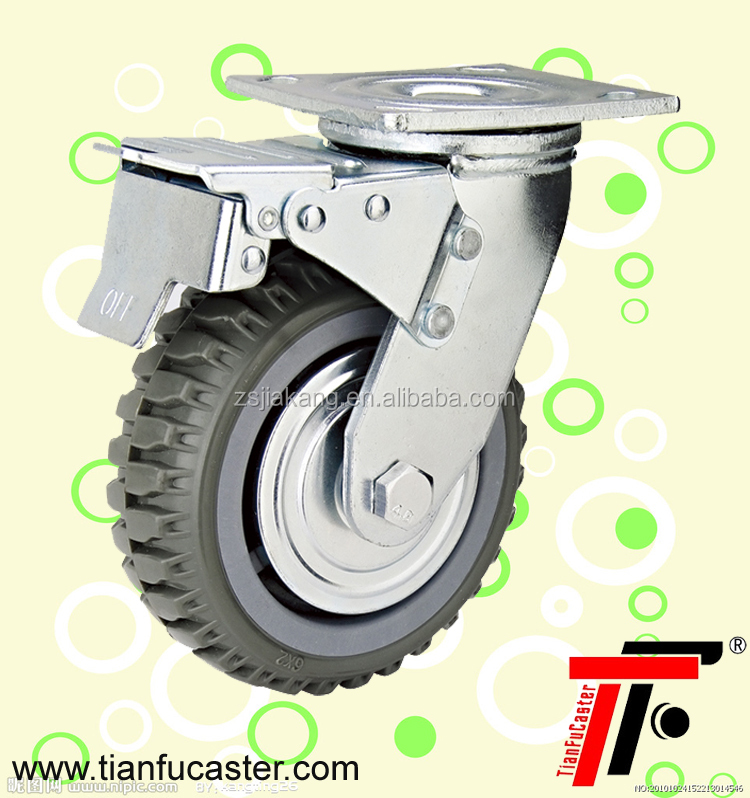 3, 4, 5, 6, 8 inches PVC Heavy duty trolley Caster wheel