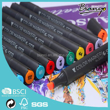 STA marker pen oil based marker pen two-tip color marker pen