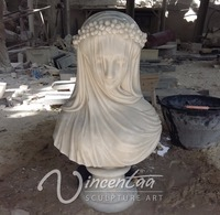 popular 2016 hot sell stone carving lady marble bust statue