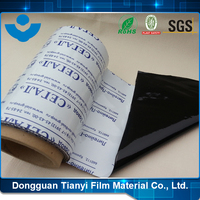 Stable Quality LOGO Printed Black and White Protective Plastic Film