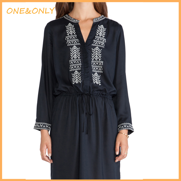 Woman embellished middle east tunic dress