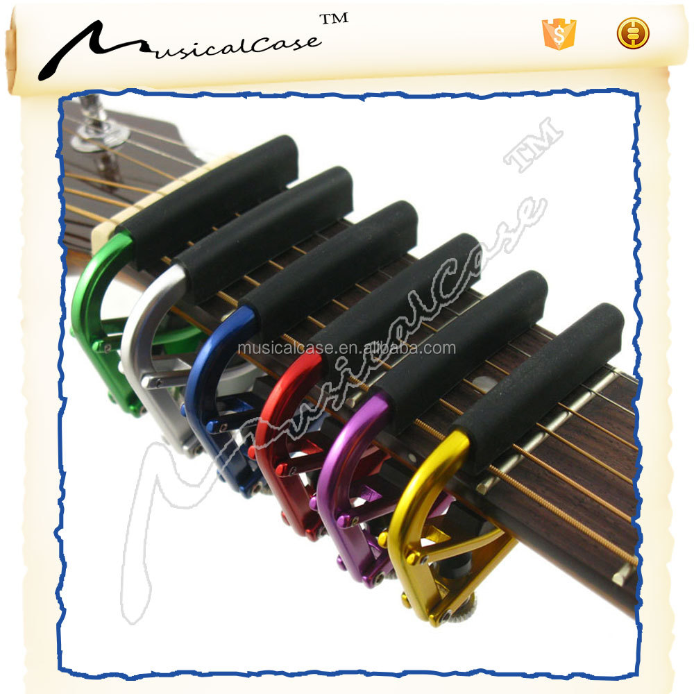 Fashion high quality acoustic colorful best capo for 12 string guitar cool guitar capos , good guitar capo