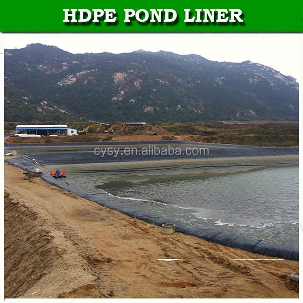 Black HDPE epdm pond liner for sale