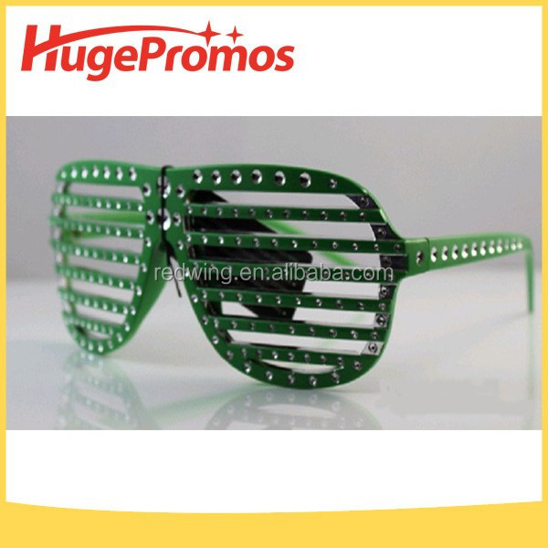 Unique Patriotic Green Shading Sunglasses For Party Favor