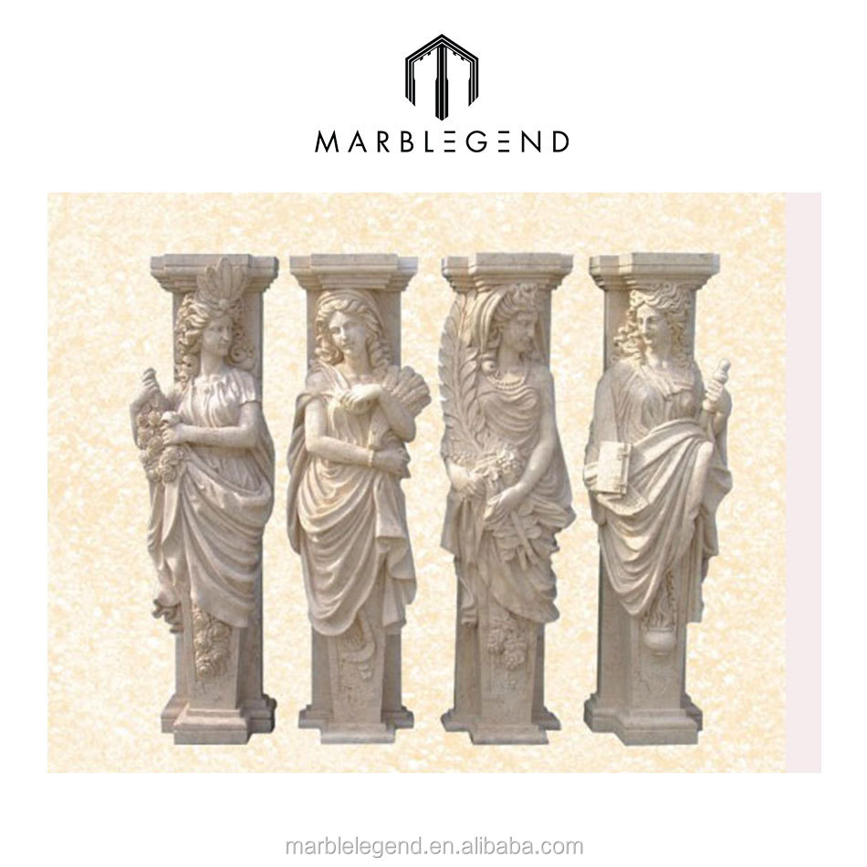 Luxurious decorative for wall and floor faux sandstone column
